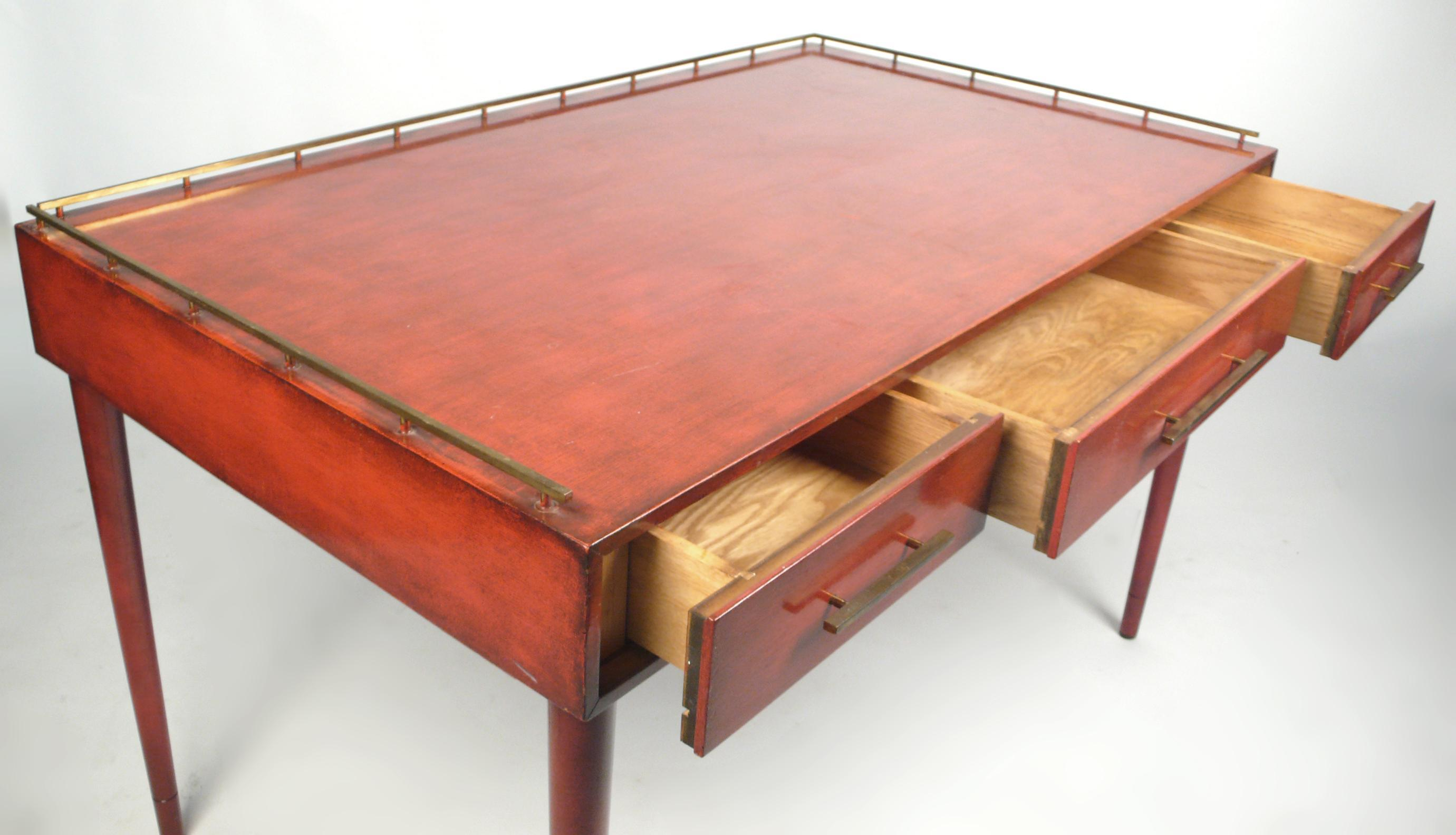 Unique Three-Drawer Writing Desk by Imperial | 20c Design