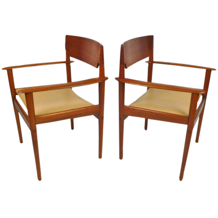 Grete Jalk Teak Arm Chairs