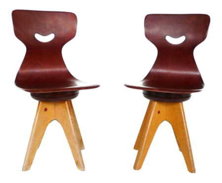 Modernist Bentwood Stegner Children's Chairs