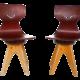 Modernist Bentwood Stegner Children's Chairs
