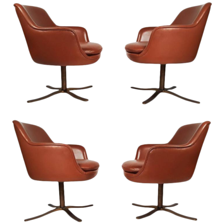 Four Leather Zographos Dining Chair