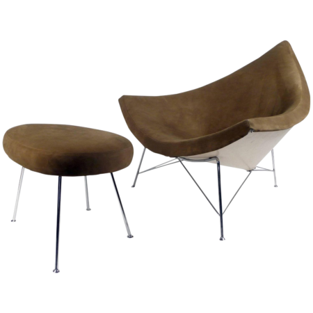 Nelson Coconut Chair and Ottoman