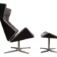 Thonet Tilt and Swivel Lounge Chair and Ottoman