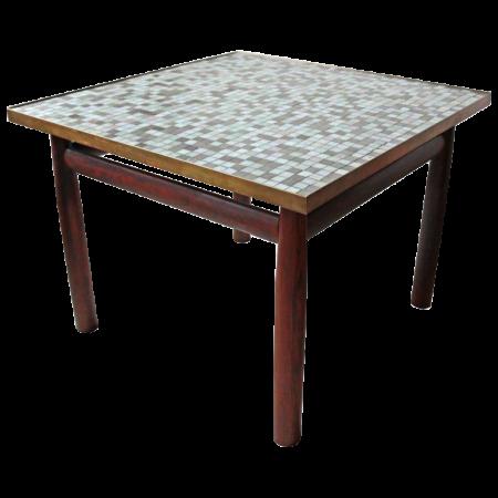 Wormley Table Murano Glass Tile Top