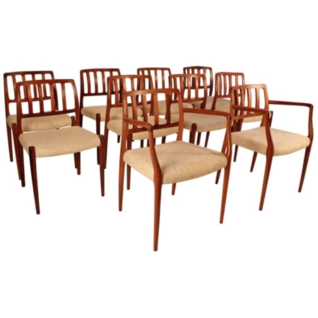 Niels Otto Moller Dining Chairs Rosewood