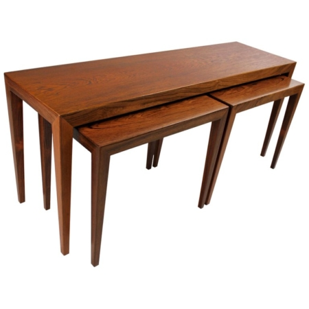 Severin Hansen for Haslev Rosewood Nesting Tables