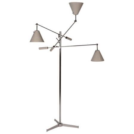 Vintage Polished Nickel Arredoluce Monza Triennale Floor Lamp with Tripod Base