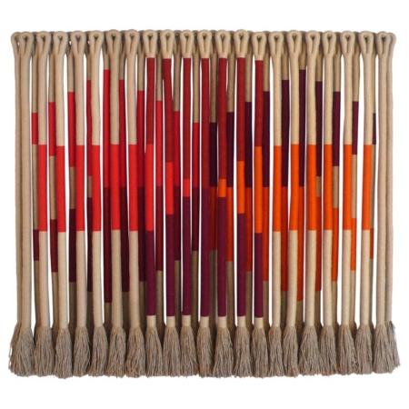 'Swiss Cross' by fiber artist Jane Knight, 1928 - 2013