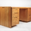 Solid Wood Desk by California Studio Craftsman John Kapel