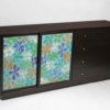 1960s Mahogany Cabinet or Dresser with Enameled Doors Designed by Harvey Probber
