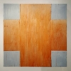 """""""Oxide Red Cross"""" by Douglas Cartmel Three Dimensional Oil Painting on Birch Box"""