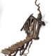 Solid Cast Bronze Brutalist Tree House Sculpture