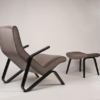 Pair of Early Eero Saarinen Grasshopper Chairs for Knoll with Rare Black Frames