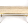 Paul McCobb Irwin Collection Brass and Travertine Sofa Table