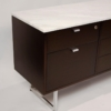 Minimalist 1960s Harvey Probber Credenza with Calacatta Marble Top