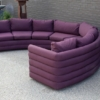 Milo Baughman For Thayer Coggin 1970s Channel Back Semi-Circular Sectional Sofa