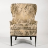 Dunbar Wingback Chairs designed by Edward Wormley in a Custom Cartier Textile