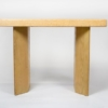1950s Paul Frankl Bleached Oak & Cork Console Table for Johnson Furniture