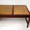 Edward Wormley for Dunbar Solid Rosewood and Fossilized Marble Cocktail Table
