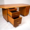 Custom Designed Frank Lloyd Wright Double Pedestal Desk for the Price Tower
