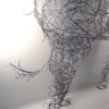 Massive Horse Sculpture Crafted From 1000 Chrome Coat Hangers for Barneys NY