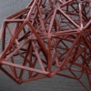 Welded Steel Abstract Modernist Red Heifer Sculpture by Artist Mark Doyle