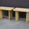 Paul Frankl Waxed Cork and Oak Dining Table with Two Model 5008 Consoles