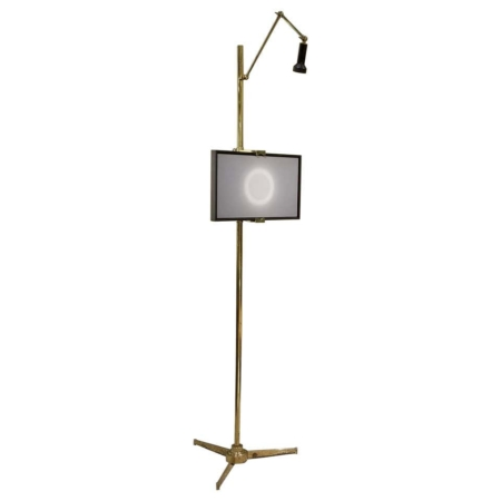 Arredoluce Easel Lamp by Angelo Lelii in Solid Brass, 1950s