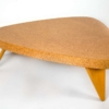Paul Frankl Bleached Mahogany and Waxed Cork Guitar Pick Coffee Table Model 5030