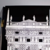 Four Panel Black and White Piero Fornasetti 'Architectura' Folding Screen