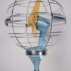 1950s Italian Zodiac Rotary Floor Fan produced by San Giorgio