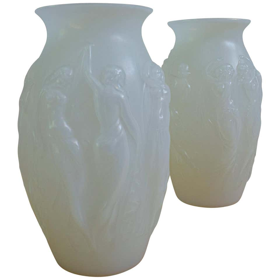 Sabino Glass Art Deco Vases