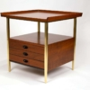 Milo Baughman for Arch Gordon Walnut and Solid Brass Nightstands