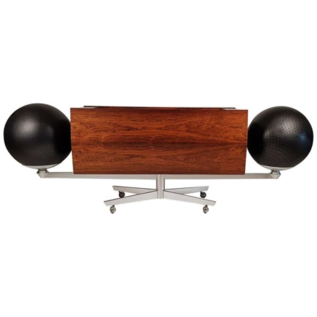 Mid Century Modern Clairtone Stereo System Project G 1 T4, Rosewood, First Generation, by Hugh Spencer.