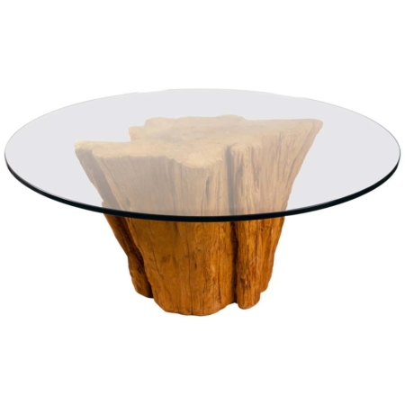 Modern Cypress Tree Trunk Dining Table 1970s