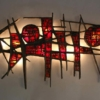 Pia Manu Brutalist Illuminated Wall Sculpture