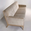 T.H. Robsjohn Gibbings Three-Seat Sofa Custom Bleached Walnut Frame Widdicomb