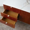 Florence Knoll Credenza in Teak and Marble``