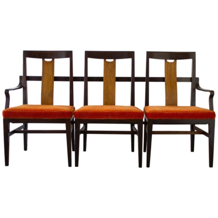Edward Wormley 3-Seat Bench in Mahogany Dunbar