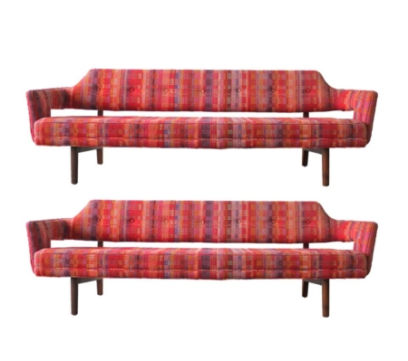 Edward Wormley Open Back Sofas for Dunbar