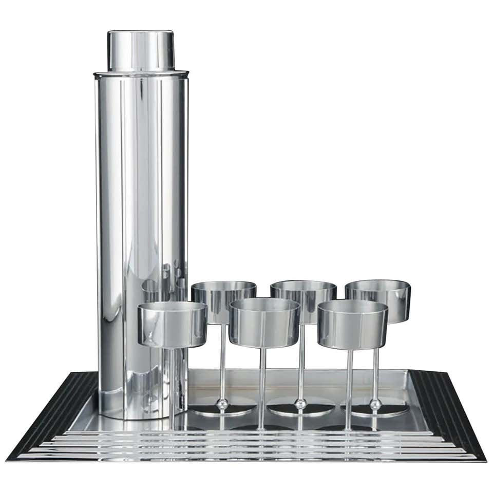 Norman Bel Geddes Manhattan Art Deco Skyscraper Cocktail Set