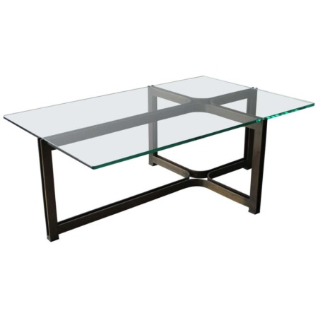 Dunbar Coffee Table by Tom Lopinski in Oil Rubbed Bronze and Glass