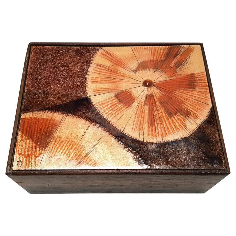 Enamel trinket box by Irwin Whitaker