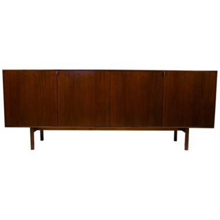 Florence Knoll Credenza in Mahogany with Marble Top and Satin Legs