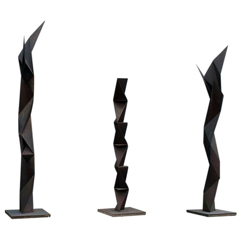 "Three sculptures from the series ""The Rust"" by renowned Japanese artist Aijiro Wakita"