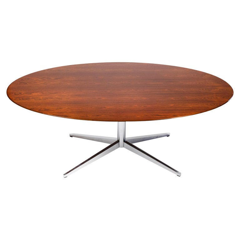 Florence Knoll Table Desk in Exotic Brazilian Rosewood