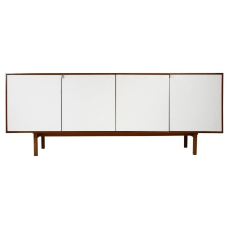 Florence Knoll Walnut Cabinet with Maple Interior Model No.541, Germany, 1950s