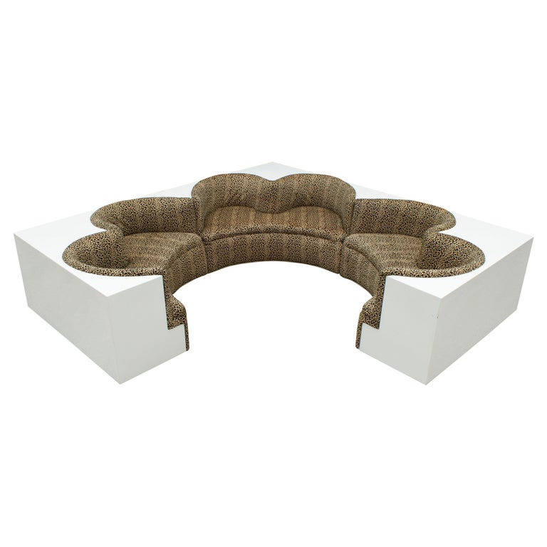 Archizoom Associati Modular Safari Imperial Sofa for Paltronova Italy 1970s