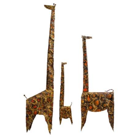 "James Bearden Trio of Brutalist Giraffe Sculptures ""Animal Series"""