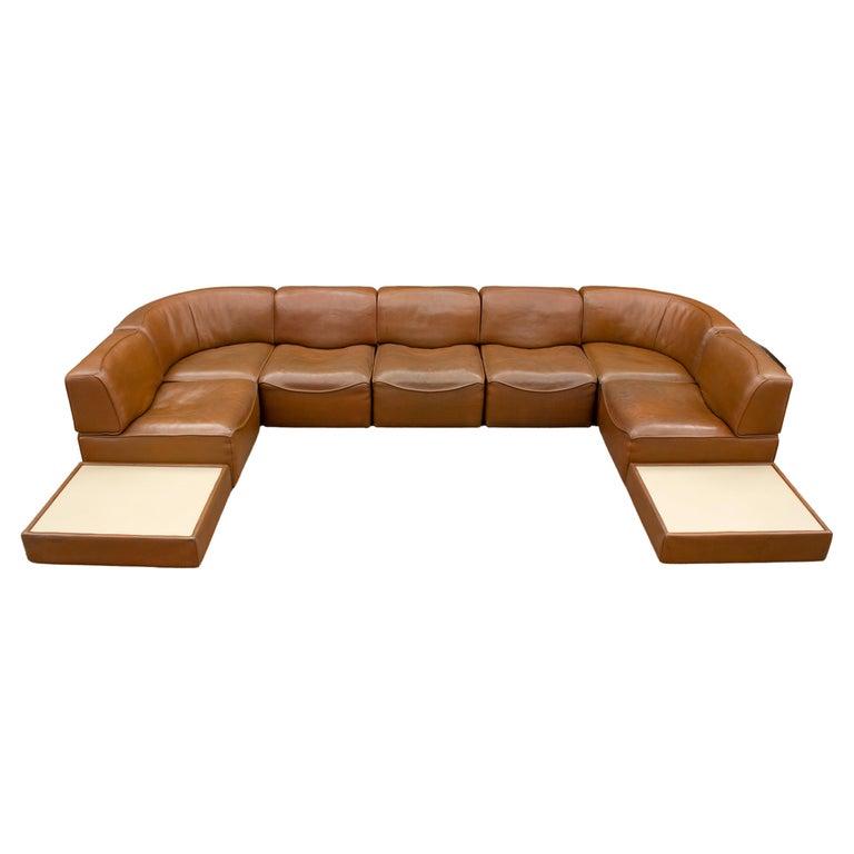 De Sede DS15 Modular Sectional Sofa in Buffalo Hide